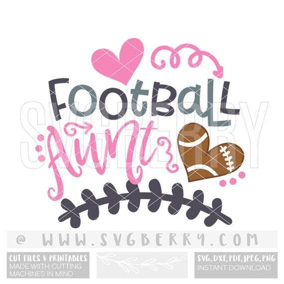 Football Aunt SVG / Aunt Shirt Aunt Gift Aunt Squad / Football