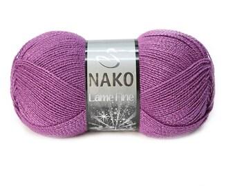 NAKO Lame Fine metallic yarn shinny yarn crochet yarn hand knit yarn shinny metallic yarn acrylic yarn hand knit yarn NAKO yarn silver yarn
