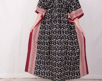 Front zippered nursing gown, breast feeding gown, plus size maternity, maternity hospital gown, plus size dress, plus size gown (blk warli)