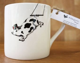 Pig Mug, Pig lover, pig gifts, pig gifts CIRCUS FARM Percy the Trapezing Pig