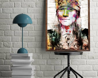 Guns n Roses Poster Axl Rose Poster Guns n Roses Art Instant Download Digital Download Wall Art Axl Rose Printable Art GNR Poster Home Decor