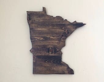 Minnesota Wood Sign. Large State Sign. Minnesota Wall Decor. Minnesota Cut Out. Home State Sign. Minnesota Wall Art. Wood State Sign