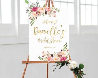 Bridal Shower sign, Bridal Shower Welcome Sign, Bridal Shower decoration, welcome sign, Bridal shower banner, Shower sign, Bridal shower