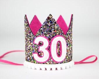 Dirty Thirty | Adult Birthday Crown |Dirty 30 | Flirty Thirty Crown | Flirty 30 | 30th Birthday for her | Adult Party Hat | Kaleidoscope
