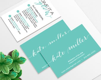 Rodan and Fields Business Card and Mini Facial Instruction Cards for consultants | DIGITAL FILE