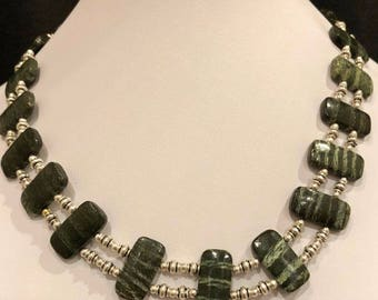 Double Drilled Green Agate