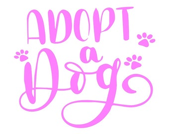 Adopt a dog, vinyl decal, vinyl sticker, Rescue dog, animal rescue, adopt don't shop, I love dogs, dog lover, foster dog, shelter dog, yeti