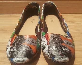 Star Wars - resist - Womens Flat Shoes - AU Sizes 6-11 - Custom made - Ready to ship
