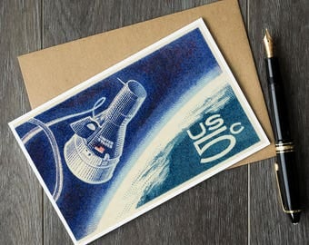 Gemini IV, Project Gemini, nasa birthday cards, astronaut fathers day, astronomy retirement cards, get well soon, kids birthday space cards