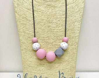 Pink Beaded Necklace STYLE 5