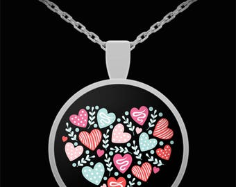 Valentine Jewelry I Love You Heart Chocolate Candy Necklace Gift