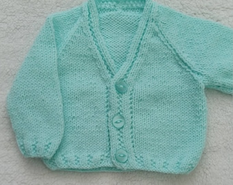 Hand knitted boys cardigan
