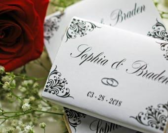 Wedding favor soap personalized medium soap favors elegant rustic soap Bridal shower soap favors 10 guest soap favors 2 oz cusrom soap