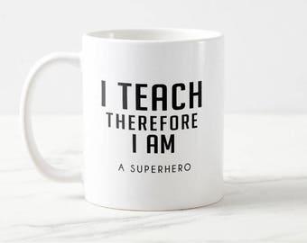 Superhero Teacher coffee mug gift for teachers