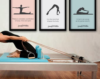 PILATES POSTER - Set of 3 Pilates Poster - Pilates Art Print - Pilates Studio Decor - Pilates Inspiration  - Pilates Wall Decor - Wall Art