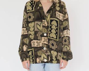 Vintage 90s Garden Shirt