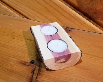 Red Cedar Tea Light Holders, Candle Holder, Rustic Candle Holder, Candleholder, Wood Candle Holder, Home Decor, Holiday Decor