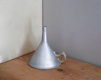 Aluminium Funnel, Wabi Sabi Kitchen, Old Pouring Funnel, French, Vintage Funnel, 1950s