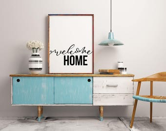 Welcome Home art • Printable • Typography Print • Home Decor • Office Decor • INSTANT DOWNLOAD FILE