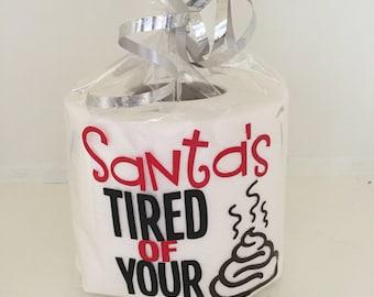 Novelty Toilet Roll, Christmas Gift, Christmas Toilet Roll, secret santa, adult gift