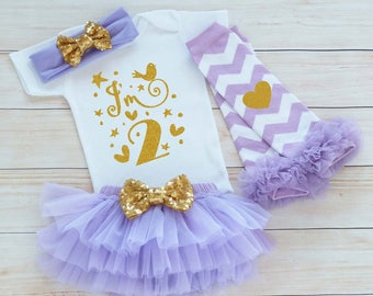 Second Birthday Outfit Girl, 2nd Birthday Girl Shirt, 2nd Birthday Outfit, Tutu Outfit, Birthday Gift, Second Birthday Girl, 2nd Birthday