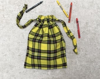 smallbag Plaid - lightweight wool Plaid black and yellow
