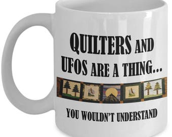 Quilters Coffee Mug - Perfect For Quilting Bee while exchanging quilting techniques - Quilting terms - Gift For Her - Gifts Under 20