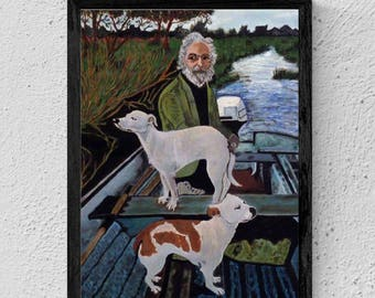 """12x16"""" Goodfellas Movie Poster - Painting of Old Man with Dogs Done by Tommy's Mother"""
