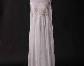 Vintage 60s Illusion Wedding Gown