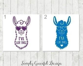 Llama Decal, Llama Laptop Decal, Llama Lover Gifts, Animal Lover Decal, Llama Car Decal, Funny Quote Decal, Cute Animal Decal, Llama Decor