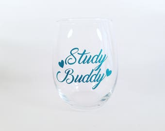 Study Buddy | New College Student | Back to School | Freshman Gift | College Gift | Sorority Gift | Fraternity Gift | Funny Wine| Funny Gift