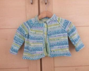 Handknitted and Designed by me Cardigan to fit age 12 months