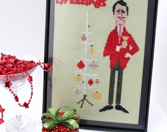 Christmas Cross Stitch Pattern,Funny Christmas Cross Stitch PDF,Vintage Christmas Cross Stitch ,Embroidery Project,Christmas Decoration