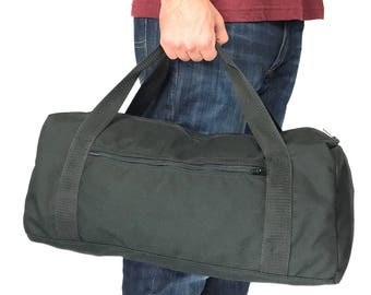 "Small 18"" Simple Square Duffel bag with 1000 Denier Cordura Nylon (Handmade In California)"