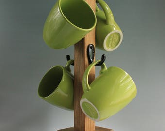 Stained Coffee Mug Tree
