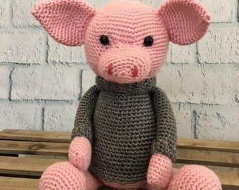Pig Amigurumi Handmade Toy Crochet Stuffed Animal