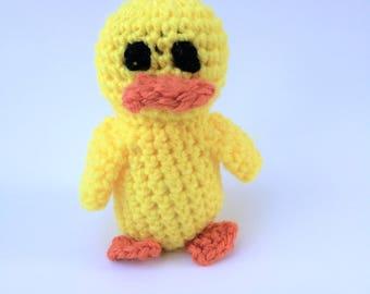 Crochet Duck, Duck Plush, Duck Stuffed Animal, Duck Toy, Nursery Decor, Crochet Animal, Crochet Toy, Crochet Decor, Amigurumi Duck,
