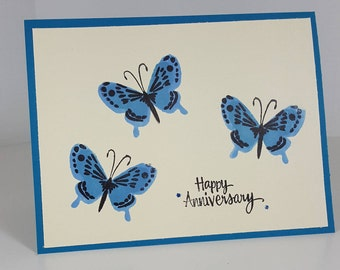 Anniversary Card - Birthday Card - Butterfly Anniversary Greeting - Butterfly Birthday Greeting