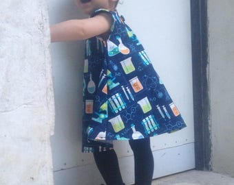 Science-Themed 100% Cotton Feminist Dress 12-18 Months