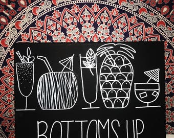 BOTTOMS UP canvas