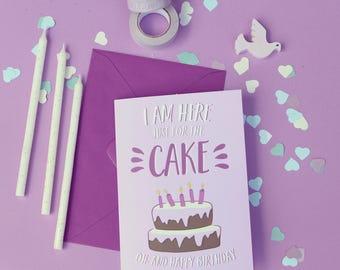 Funny birthday card, Happy birthday card, Funny birthday cake card, Funny cake card, Celebrations card, Birthday gift, Funny card for friend