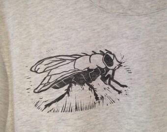 Lino printed shirt, fly