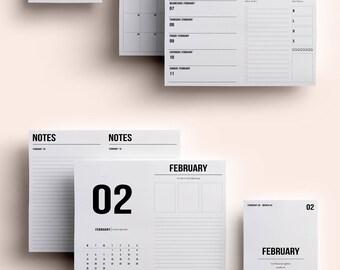Cahier TN Insert | Cahier TN Printable | Cahier TN Printable Insert | Cahier Insert - February  2018