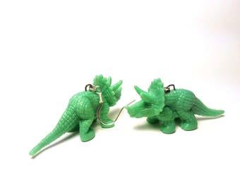Triceratops Dinosaur Earrings