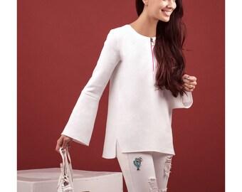 White Crepe blouse top