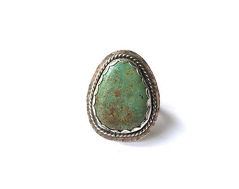 Baja California Mexico Turquoise Ring - Sterling Silver - One of a kind, US size 7