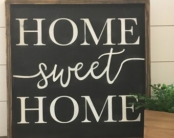 Home Sweet Home, Family room sign, Home Decor, Farmhouse sign, Rustic Sign