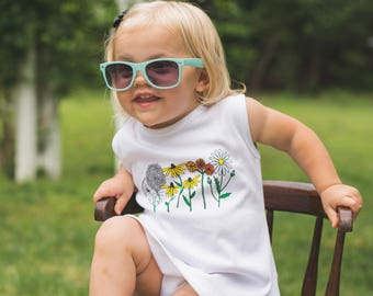 Wildflower Child Tank Dress - by Moon Moppets