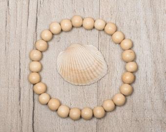Natural Wood Bead Bracelet, Mens, Womens, stacking bracelet, mens boho bracelet, mens beaded bracelet, women beaded bracelet,