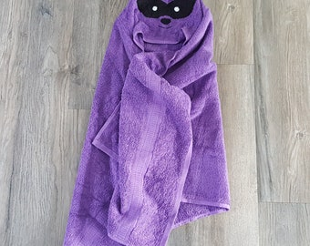 EASTER BASKET STUFFERS toddler/hooded racoon towel/racoon hooded towel/Baby hooded towel/animal hooded towels/kids towel/large hooded towel